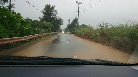 道路が冠水するほど