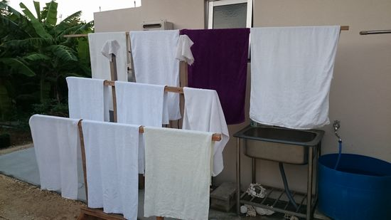 バスタオル専用の物干しをつくってみましたっ!
