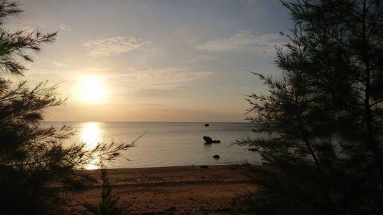 シュノーケリングツアー再開。今日の石垣島の朝日です