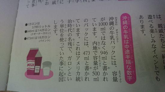 牛乳の表記