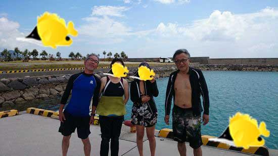 H野さんとN澤さん。Y角さんご夫婦です