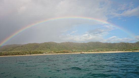 雨のシュノーケル。虹がでることも