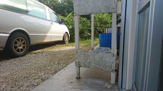 駐車場から、