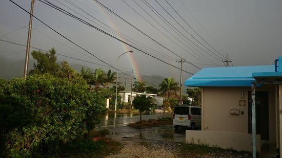 あら!虹を発見!