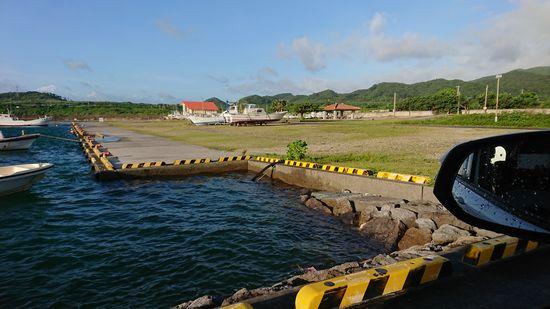 満潮時間の港