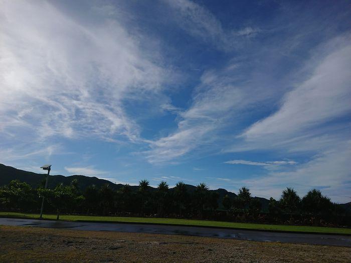 昨日の夕方の石垣島