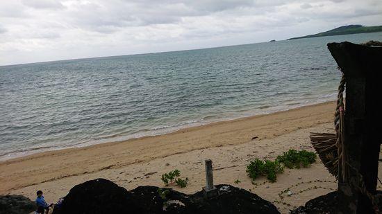 拝所からは海を一望です。
