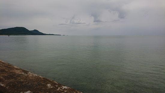 その後は穏やかな海