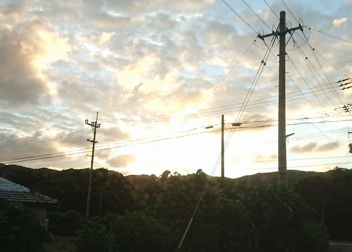 夕日がよい感じできれいです