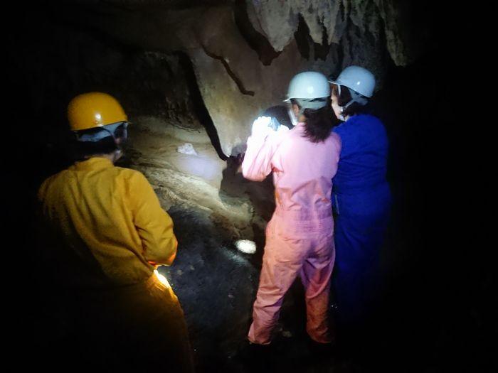 早朝、洞窟ツアーです