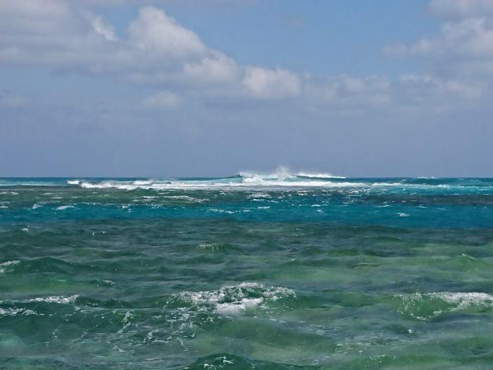 昨日の石垣島の海