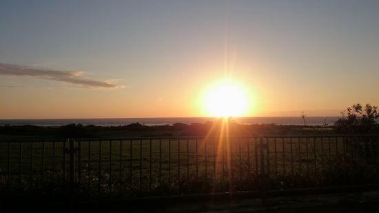 朝日がとってもキレイでしたっ!