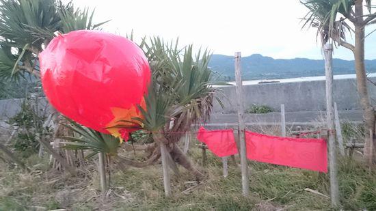 港に気球が。。。