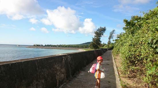 堤防沿いを通って、