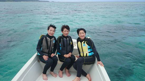 女子旅のY本さんとO木さんとT久さんです
