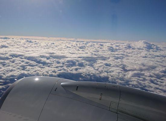 雲の上は気持ち良い天気です