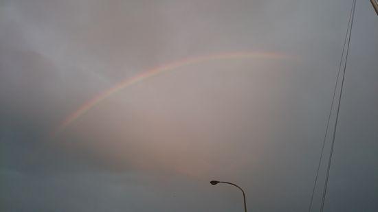 あっ!虹を発見!!