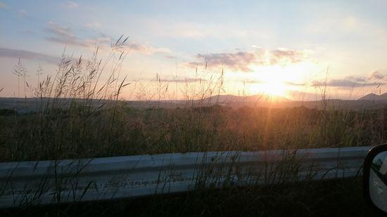 すがすがしい夕日です。