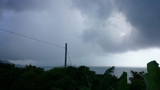でも午後に近づくと雨、曇り
