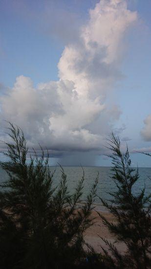 遠くに雨雲さん