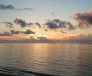 朝日、雲が邪魔します!