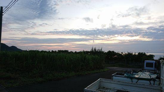 朝日が昇り始めるころ