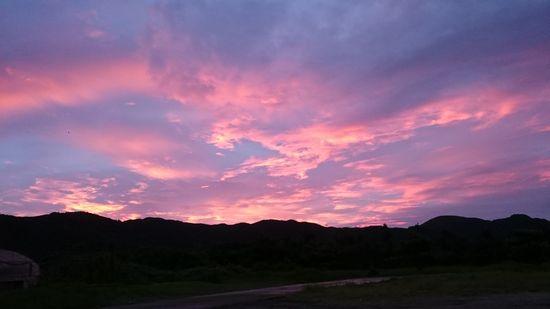 昨日、夕日がとってもキレイで。