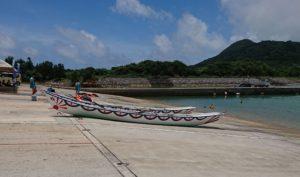 シュノーケリングツアーはお休みハーリー(海神祭)です。