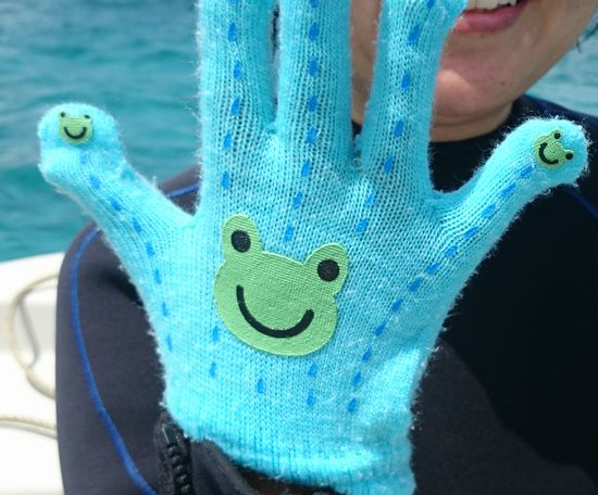 相棒のゲロゲオ手袋