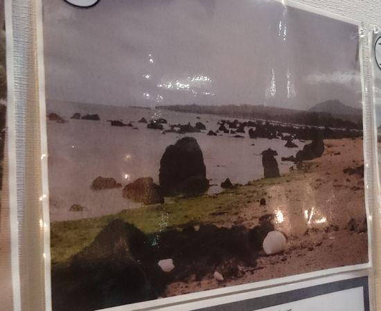 津波岩。ご近所のビーチです