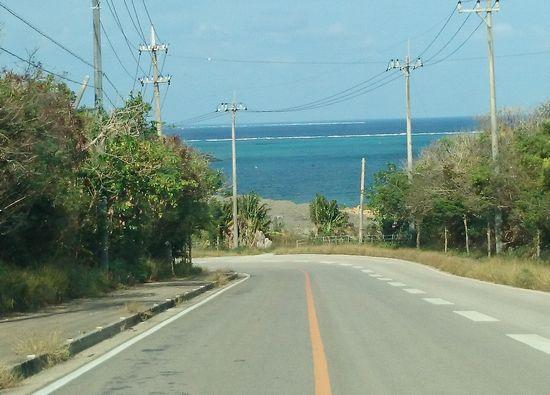 海が見えるジョギングコースです