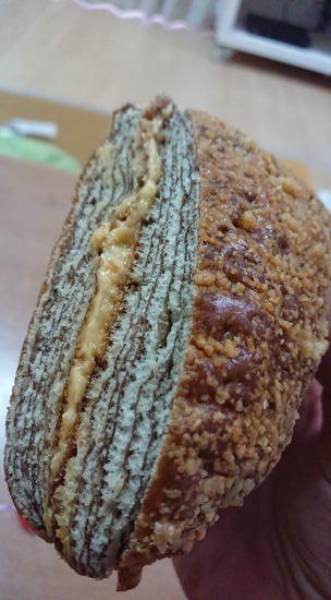 柔らかパン生地にピーナツバター