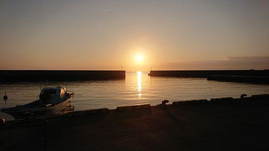 太陽さん入港です