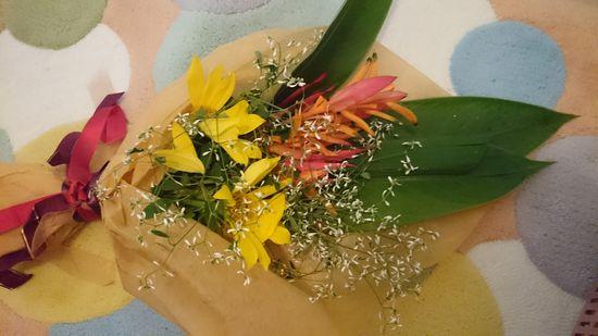 花束を頂きましたっ!