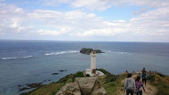 水平線が丸見える灯台です