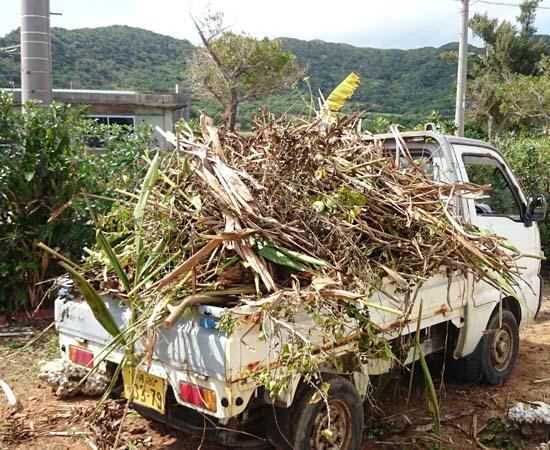 軽トラックを借りて、ゴミ捨て場へ