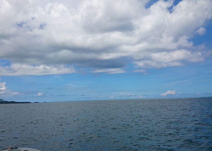 雲が少しあるくらいがちょうどよいです