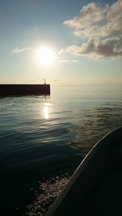 早朝ツアー。出港のときです