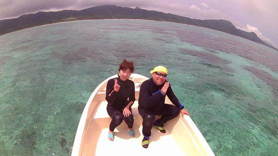 一人旅で石垣島!T田さんとI熊さんです。