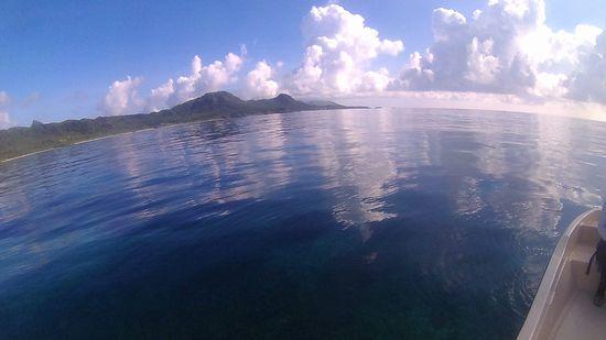 まるでプール!穏やかな海です