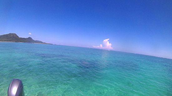 教科書通りの石垣島の海です