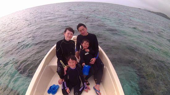 Y崎さんご家族です。