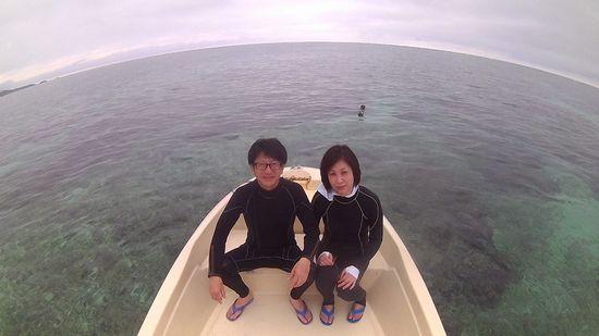 初めての石垣島旅行のK村さんご夫婦です