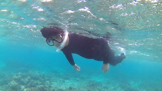 旦那さんはすいすい泳ぎ回っています