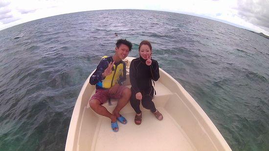 初石垣島のK藤さんとI田さんです。