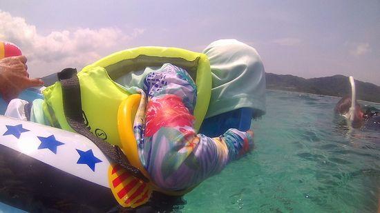 水中世界に興味津々です