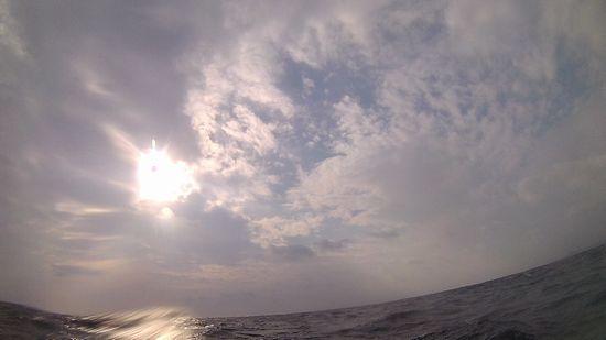 どんより雲が石垣島を覆っています。