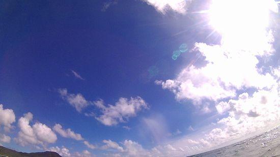 台風前!しっかり快晴です