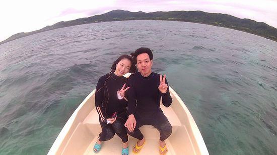 初石垣島旅行のRさんとT窪さんです