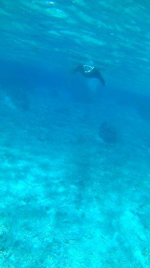 クリアブルーの海が広がります